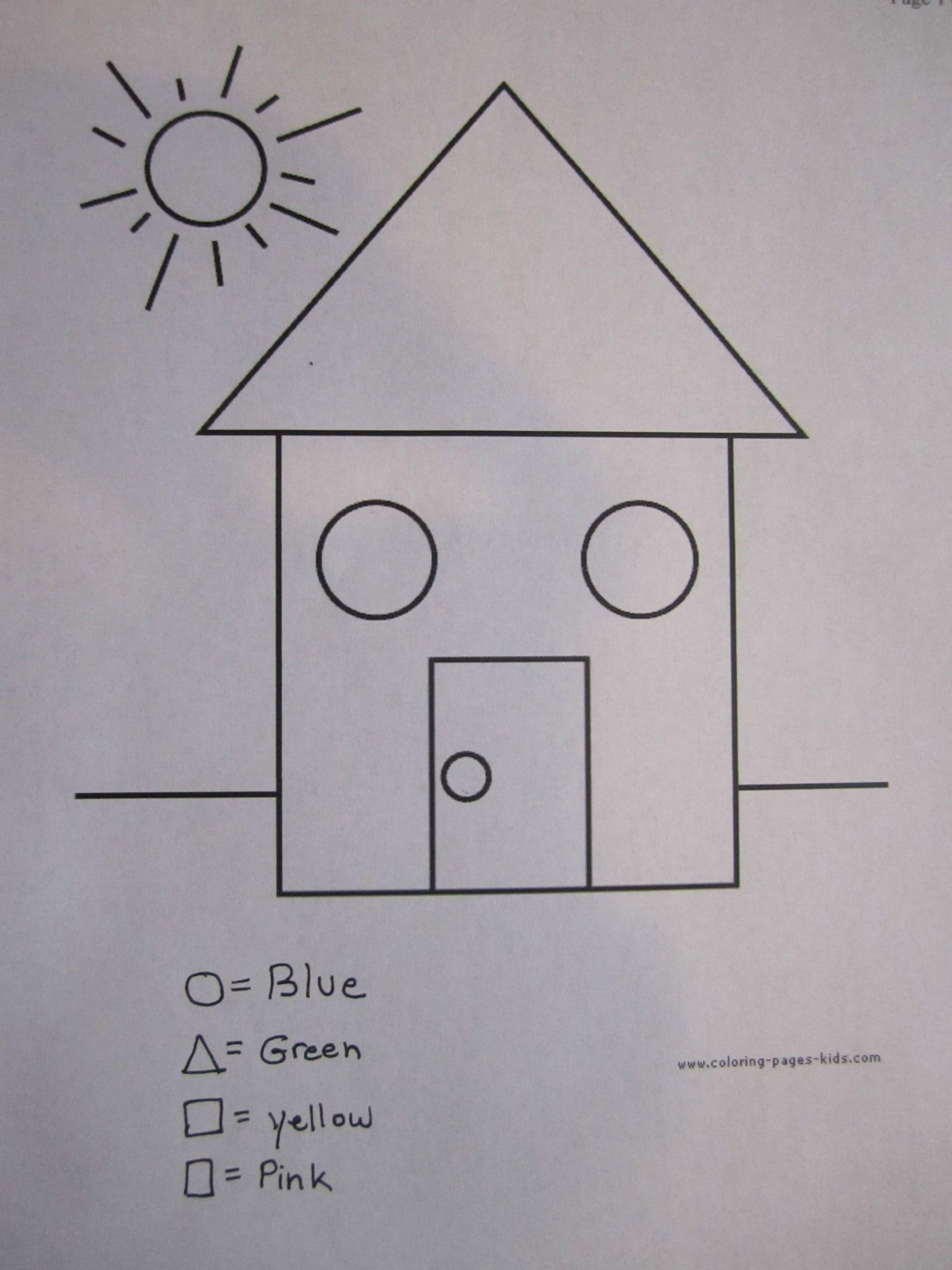 Colouring shapes activities - Visual Perceptual Activities Form Constancy