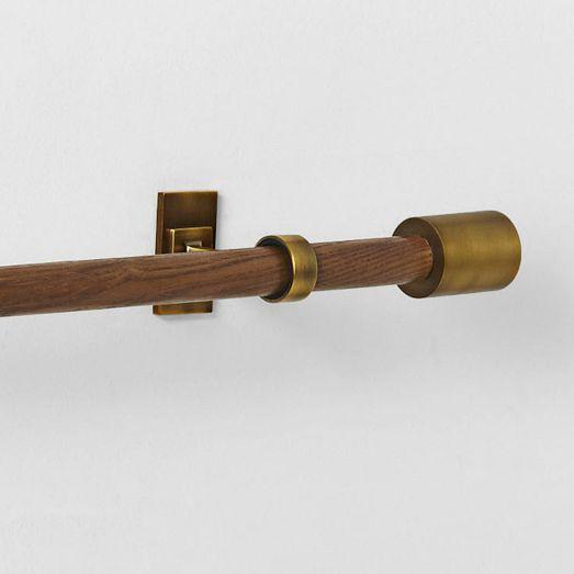 mid century rod wood brass in 2021