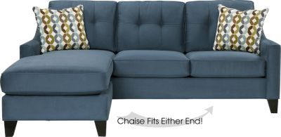 Cindy Crawford Home Madison Place Indigo 2 Pc Sectional