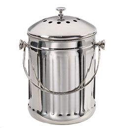 The Container Store Stainless Steel Compost Pail Best Countertop Compost System Compost Pail Compost Pail