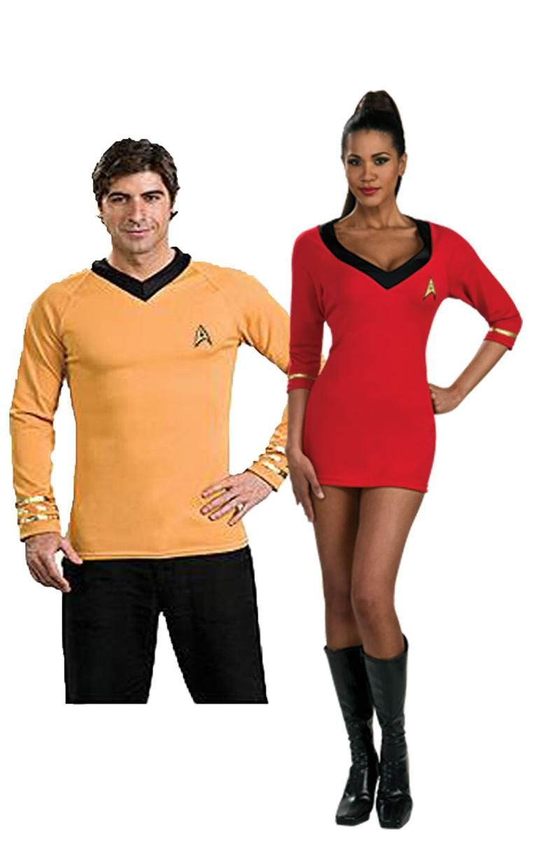 couples costumes star trek couples costume captain kirk and uhura costumes now at teezerscostumes - Uhura Halloween Costume