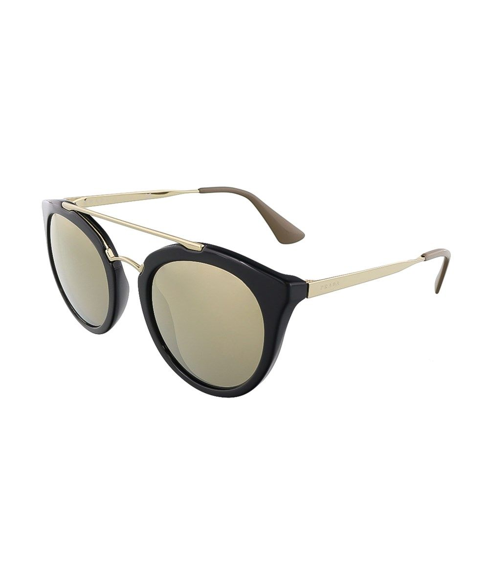 e2bb126d5d ... top quality prada pr 23ss 1ab1c0 cinema black round sunglasses. prada  sunglasses 3e790 93f4b