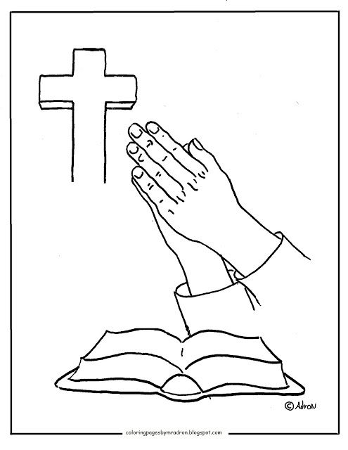Free Printable Coloring Page Of Praying Hands Bible Coloring