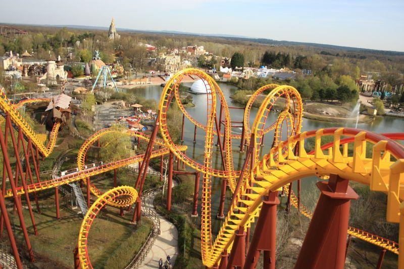Goudurix roller coaster parc asterix france 35 km north for Amusement parks in paris