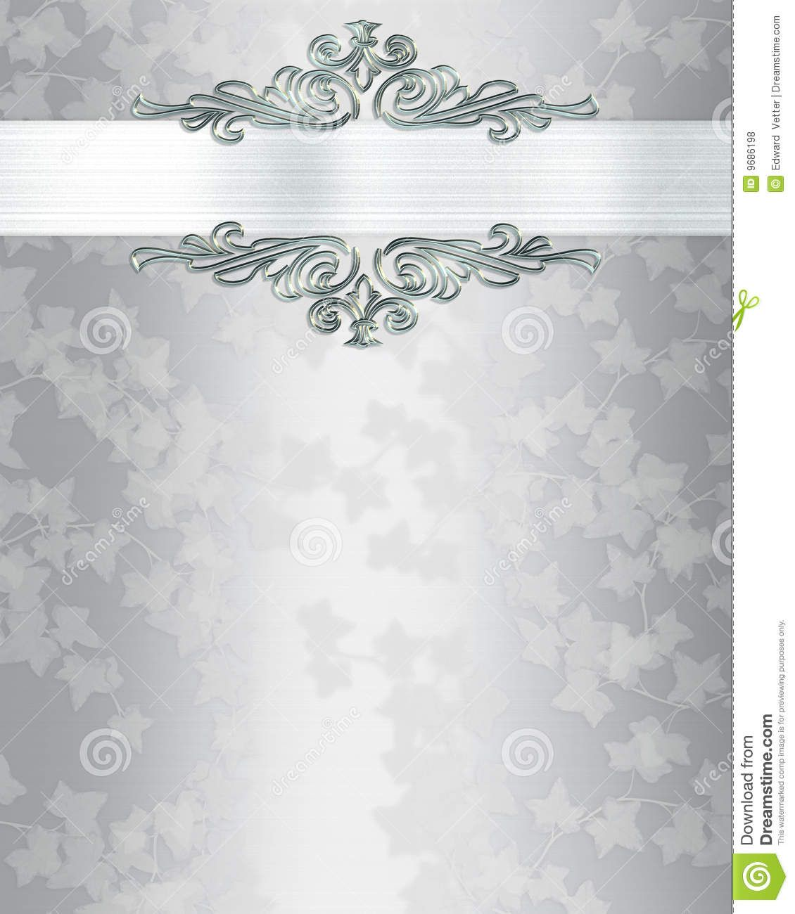 Backdrops Silver Wedding Invitations