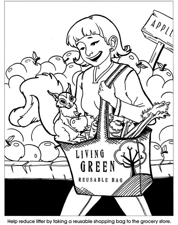 Let S Go Green An Earth Friendly Coloring Book 2 Sample Pages