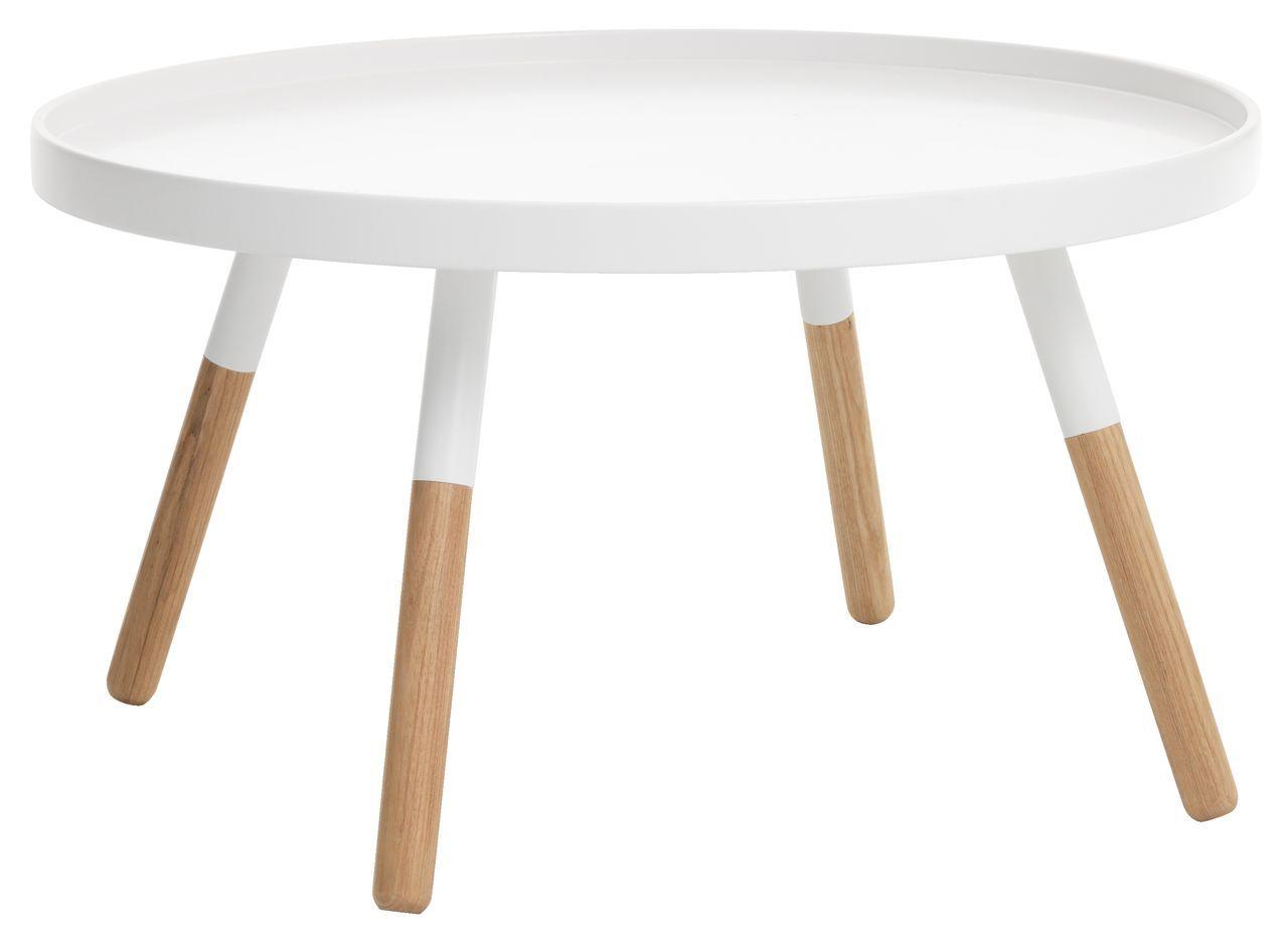 White Oak Salontafel.Salontafel Naur O80 H44 Wit Eiken Jysk X 现代艺术 Table Round