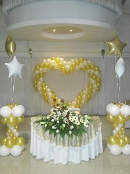 Decoracion Con Globos Bodas Buscar Con Google Party Ideas In 2018 - Adornos-con-globos-para-bodas