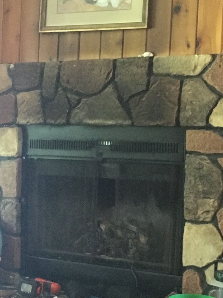 How To Clean Faux Fireplace Large Stones Faux Fireplace Faux Stone Fireplaces Fireplace
