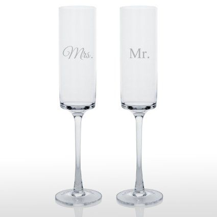 Cathy's Concepts Contemporary Champagne Flutes, Set of 2 : Amazon.com : Kitchen & Dining