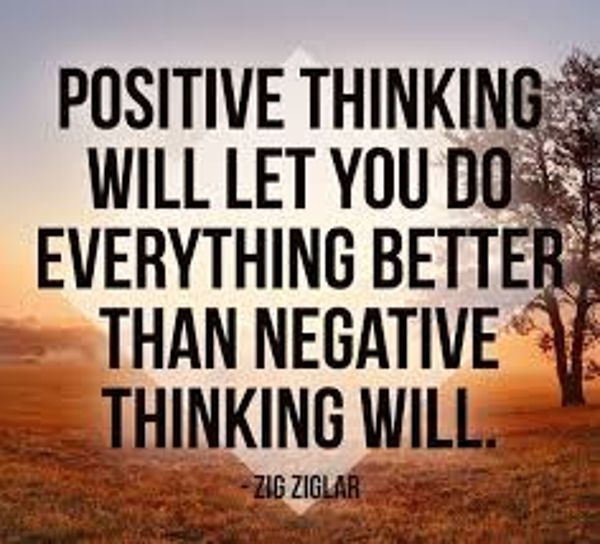 Power Of Positive Thinking Quotes The Power Of Positive Thinking And Attitude Quotes Thinking Will Do