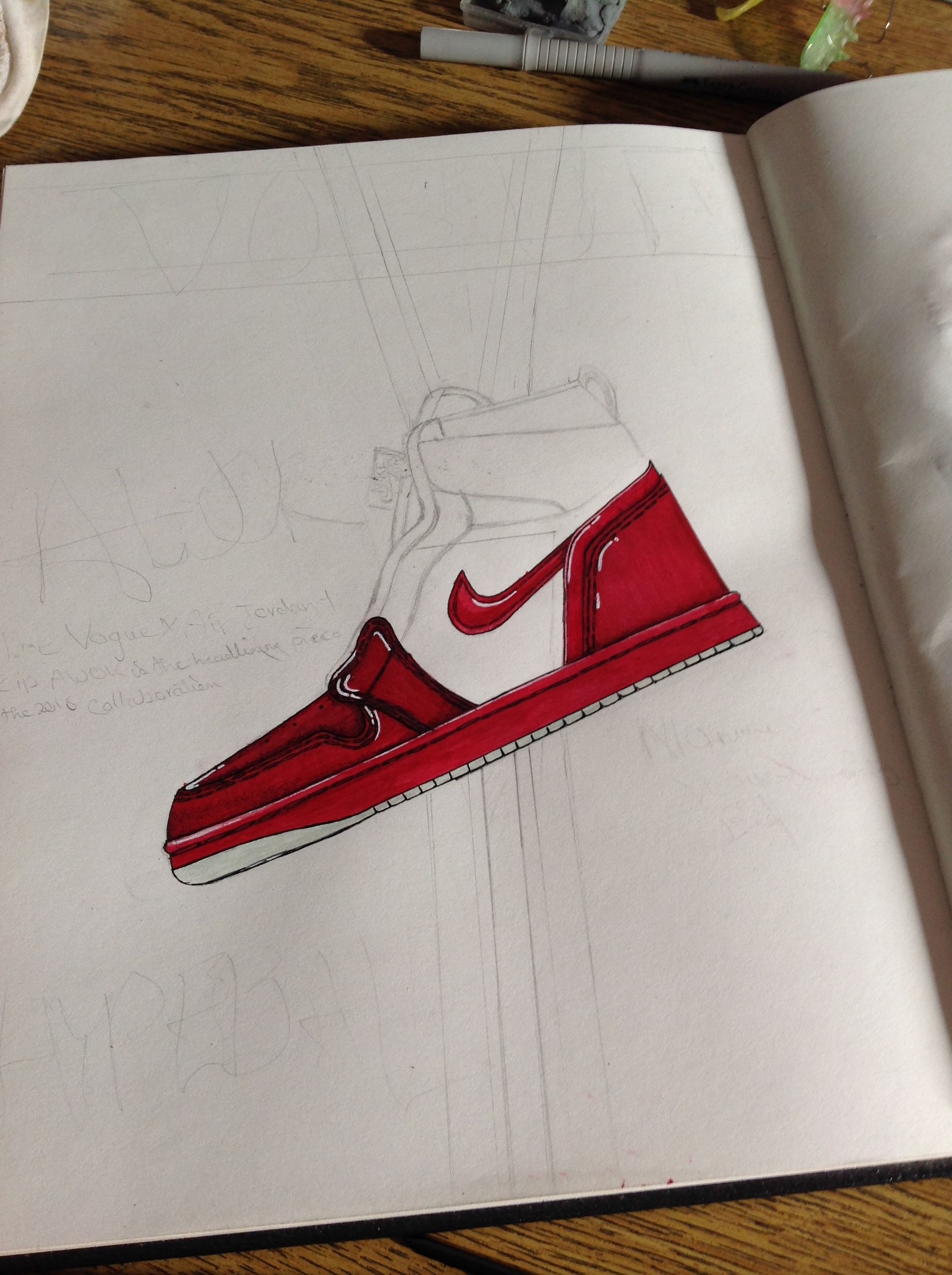 a4a4a46e0aa9 The Vogue x Air Jordan 1 Zip AWOK WMN  drawing  draw  art  artist ...