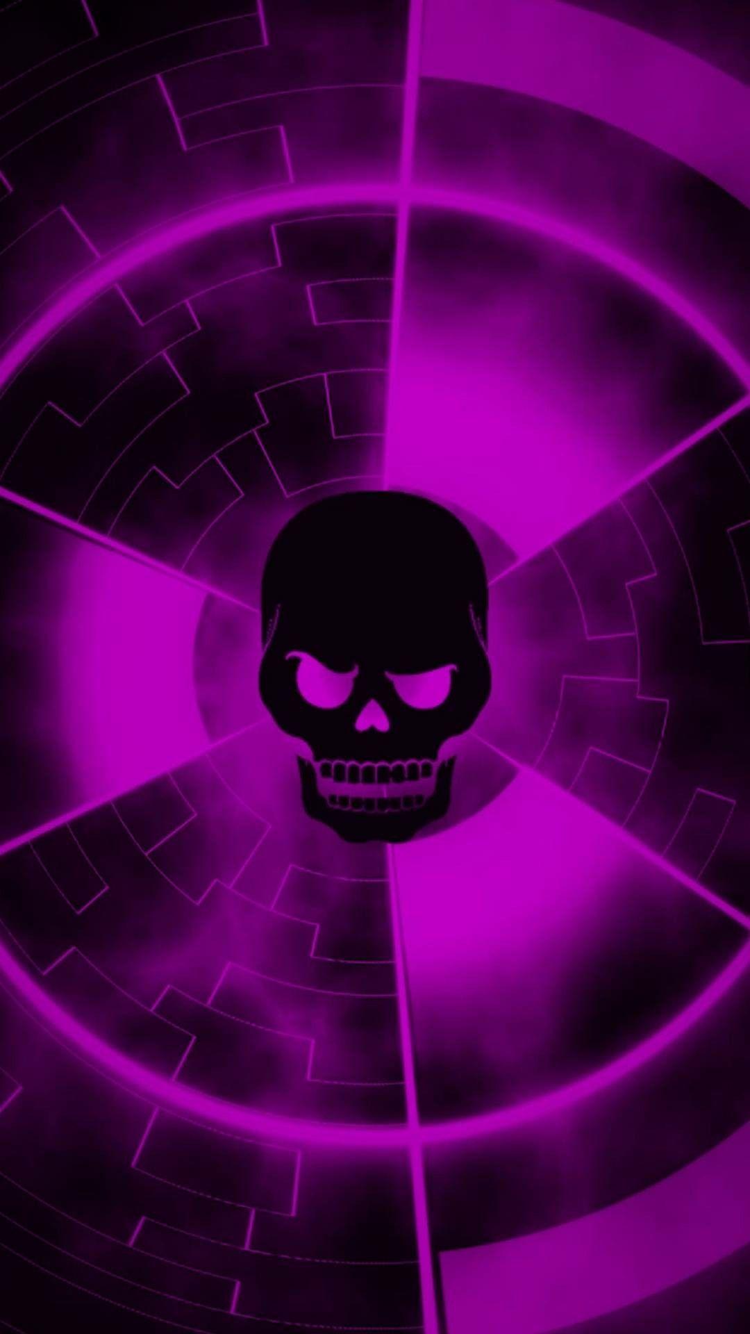 Purple Skull Wallpaper Skull Wallpaper Skull Artwork Skull Art