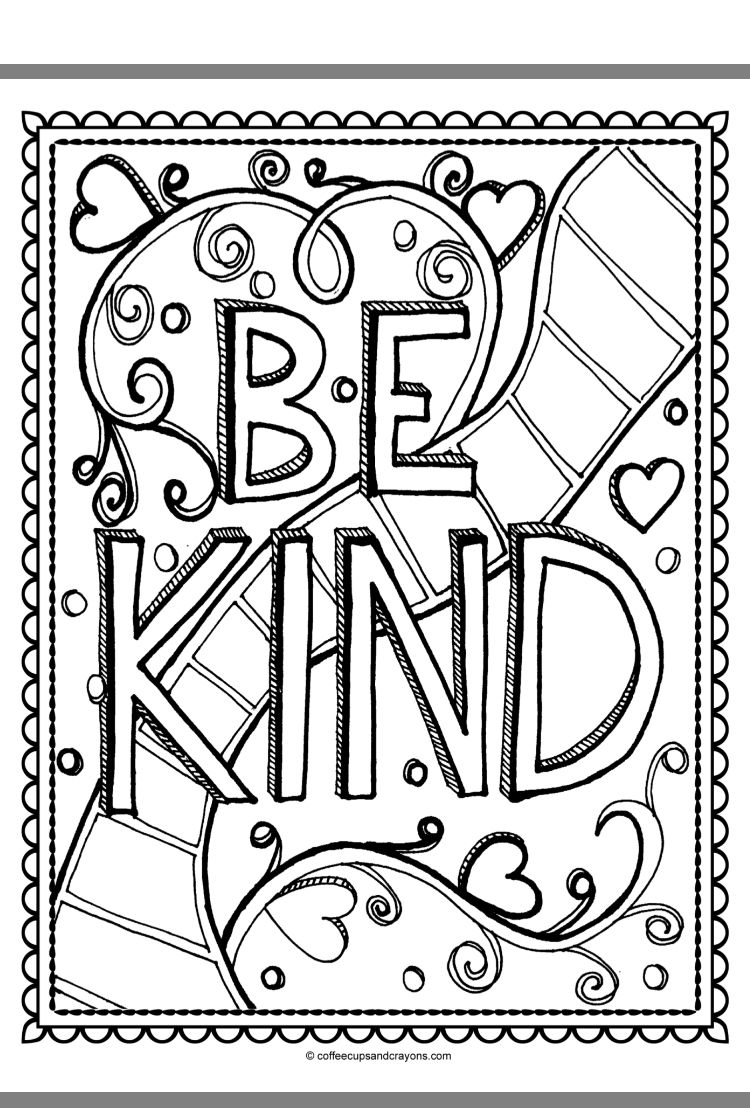 Pin By Gretchen Pettis On Great Kindness Challenge Diy Coloring Books Kindness Challenge Coloring Pages