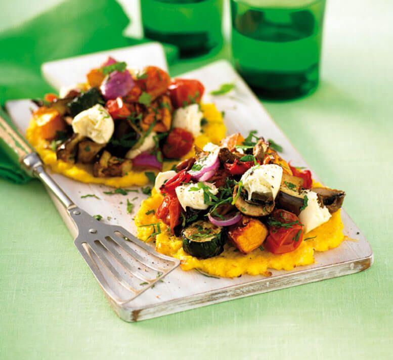 Vegetable polenta pizzas Recipe Healthy pizza recipes