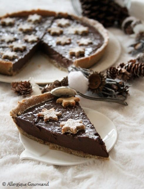 Tarte Au Chocolat Sans Oeuf : tarte, chocolat, Tarte, Crème, Chocolat, Gluten,, Lait,, Oeufs, Recette, Dessert, Oeuf,, Desserts