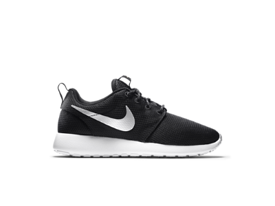 Nike Roshe One Women's Shoe, Color: Black/White/Metallic Platinum, Size: 8