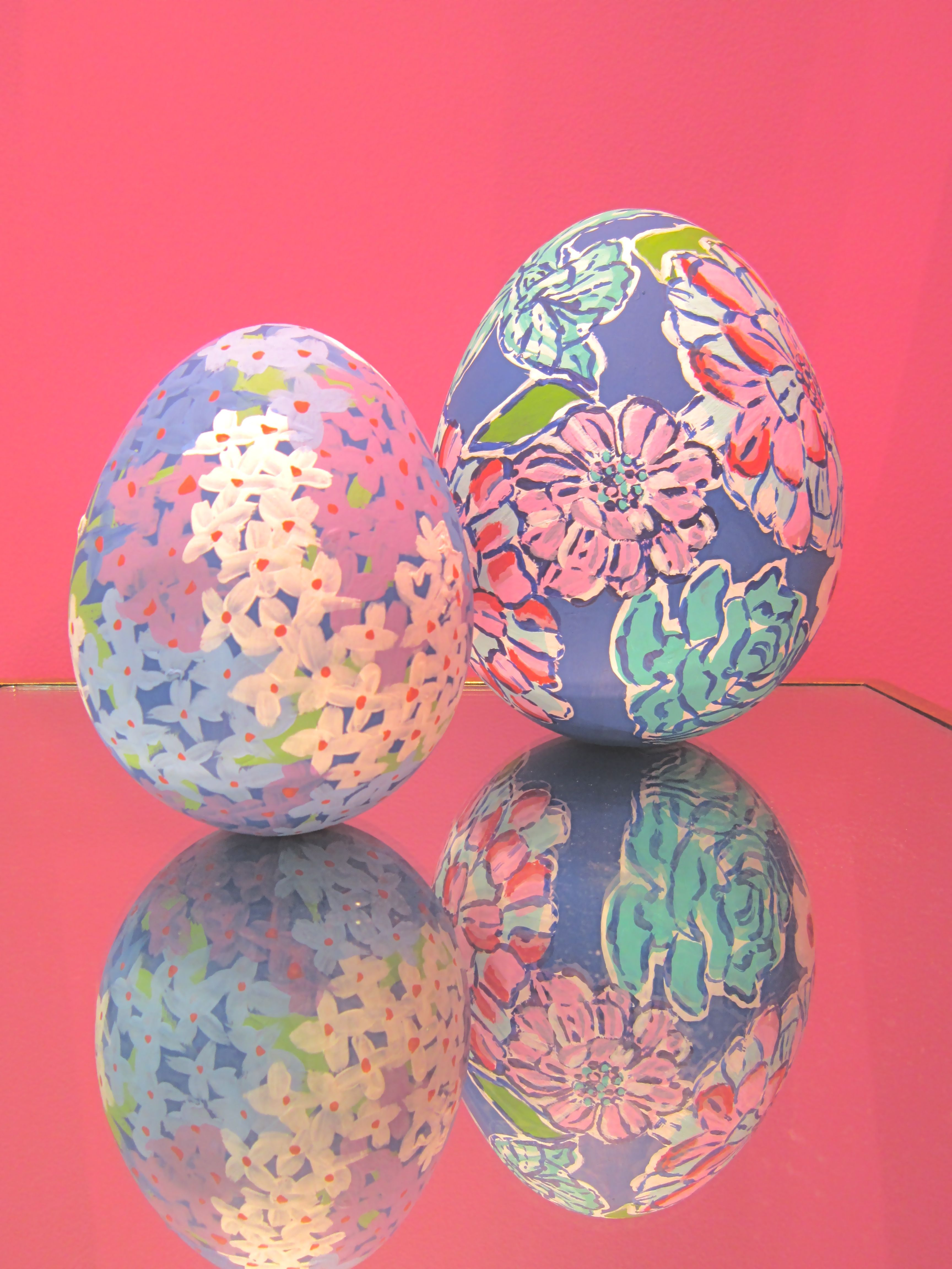 Lilly Pulitzer Easter Eggs- these are adorable!!