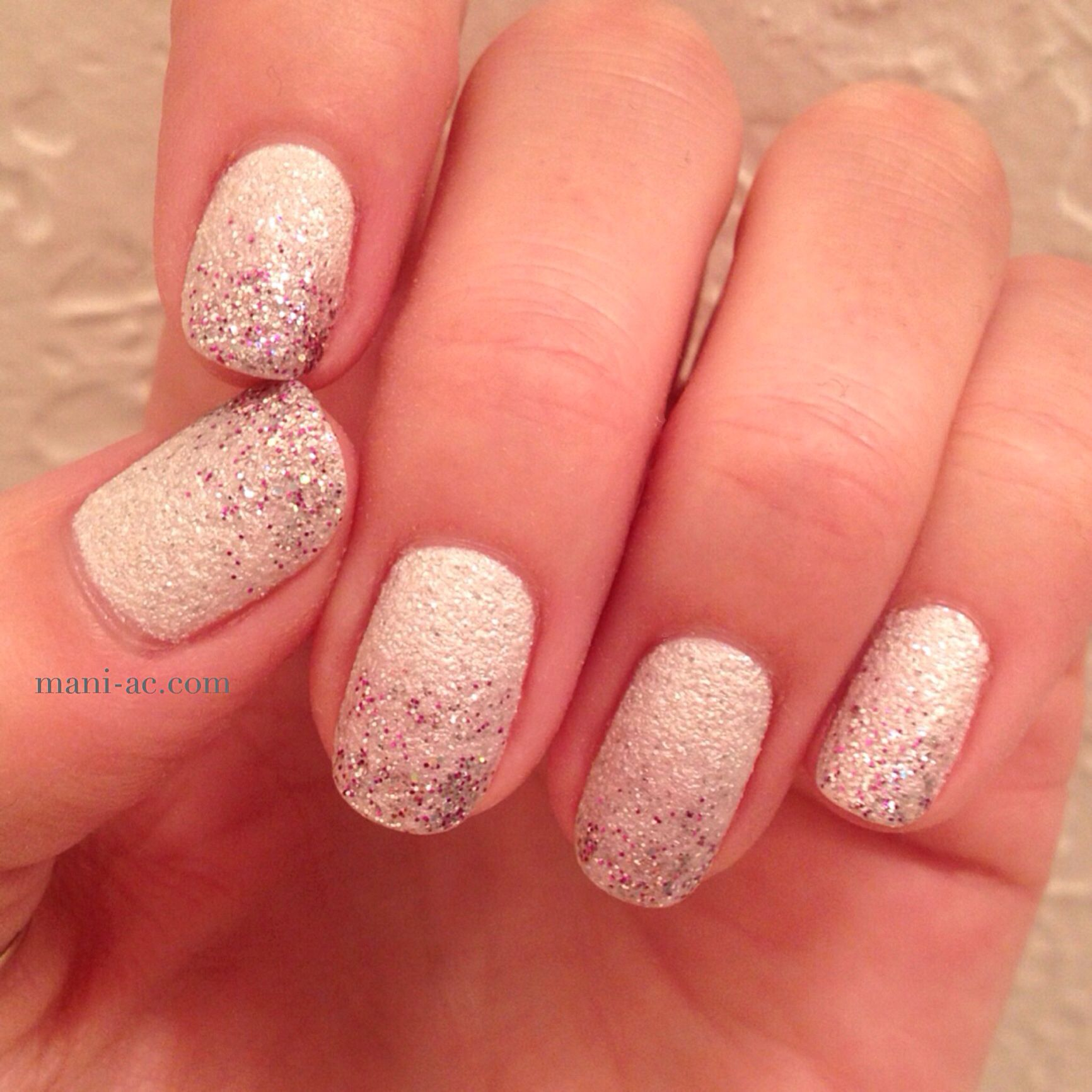 My winter white liquid sand, glitter fade manicure. Nail Polish ...
