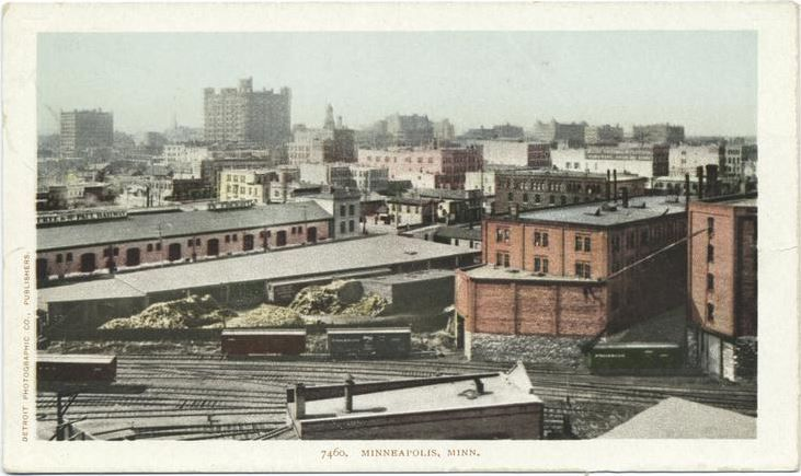 thomaslowrysghost:  Postcard view of Minneapolis, ca. 1900. If you haven't heard, the New York Public Library just released 180,000 digital images for download and perusal; including hundreds of Minneapolis. (image via NYPL)