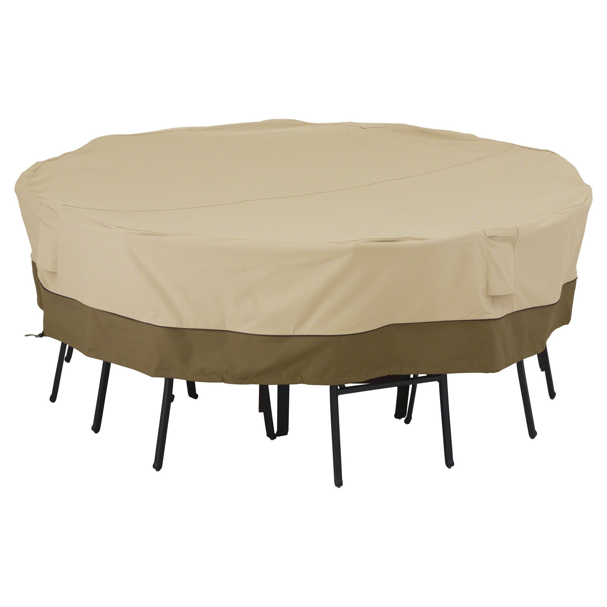 covermates patio furniture covers. Veranda Large Square Patio Table And 8 Chairs Cover - Light Pebble Classic Accessories Covermates Furniture Covers