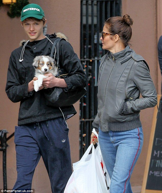 Helena Christensen And Son Mingus Reedus Carry New Puppy Home In Nyc Mingus Reedus Helena Christensen New Puppy