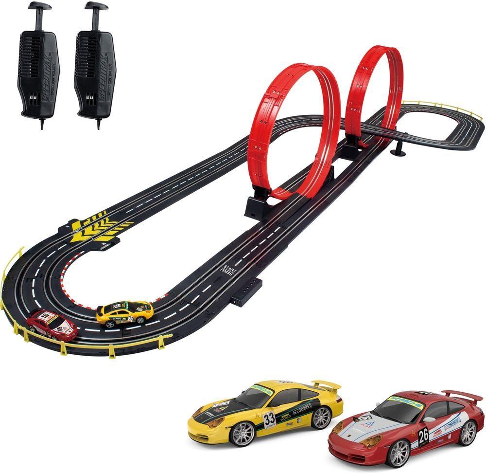 Slot Car Racing Set 1 43 Scale Stunt Raceway Track Indoor Kids Toys Electric New Slot Car Racing Slot Car Racing Sets Slot Cars