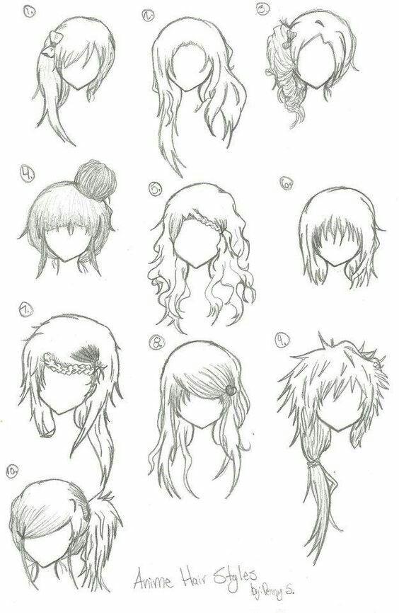 How To Draw Bangs Anime : bangs, anime, Bangs, Manga, Hair,, Anime