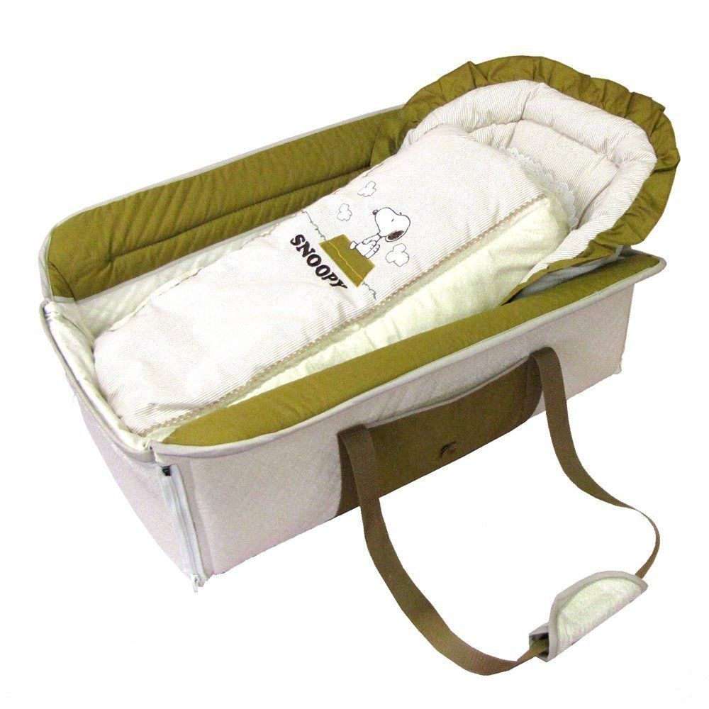 Baby bed portable - Snoopy Peanuts Baby Bassinet Foldable Bed Portable Nap Sleeping
