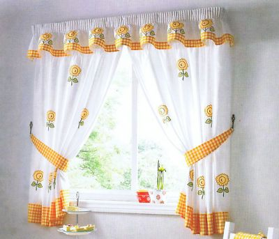 Sunflower Kitchen Curtains | Roselawnlutheran