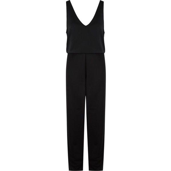 Gloria Coelho belted sleeveless jumpsuit ($603) ❤ liked on Polyvore featuring jumpsuits, black, jump suit, sleeveless jumpsuit, gloria coelho and belted jumpsuit