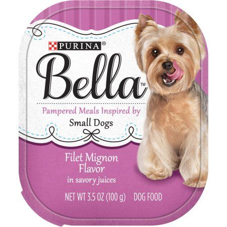 Purina Bella Filet Mignon Flavor in Savory Juices Adult Wet Dog Food, 3.5 oz Tray