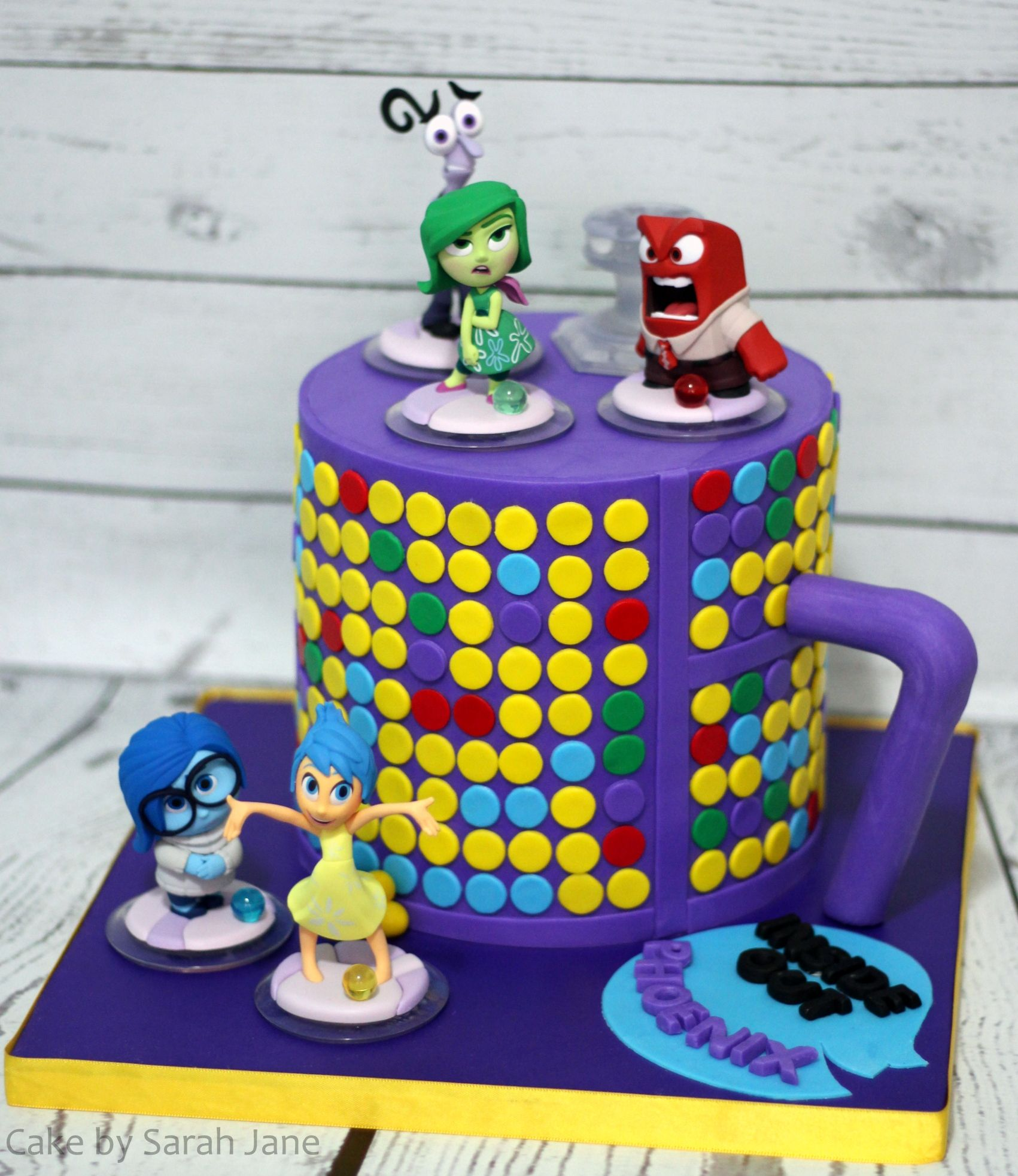 Inside Out Cake by Sarah Jane Cakes girls Pinterest Cake