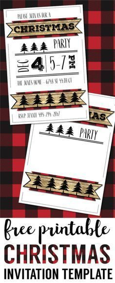Christmas Party Invitation Templates Free Printable Christmas