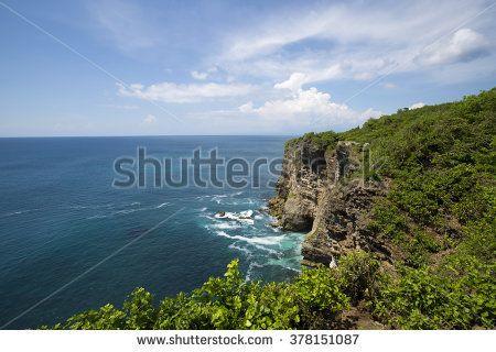 ocean from the cliffs of Pura Luhur Uluwatu, Bali