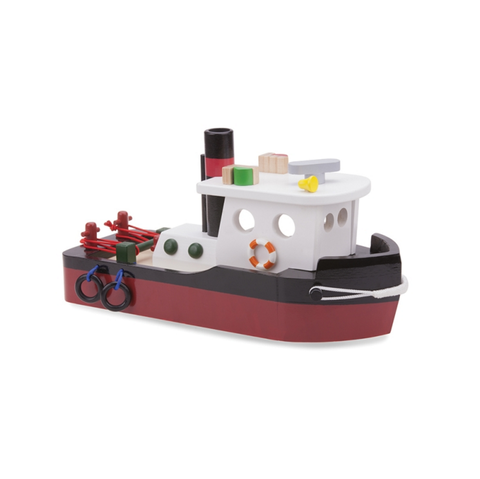 Harbour Line Tugboat (With images) | Kids wooden toys ...