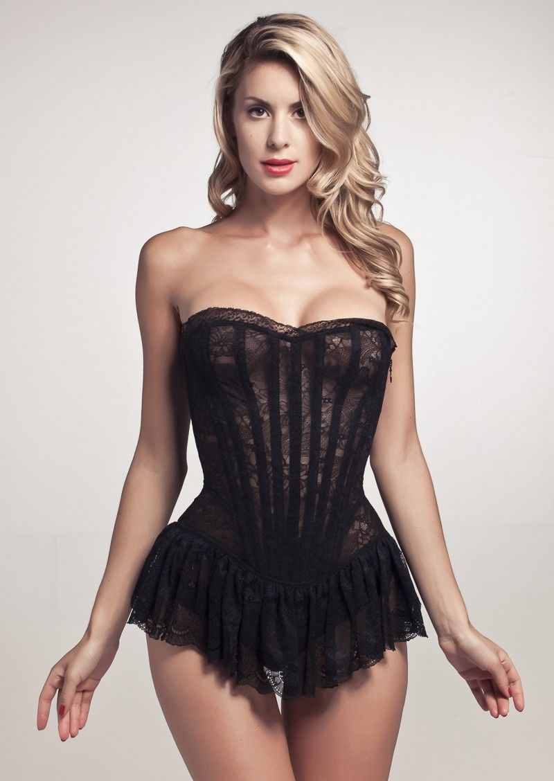 ecacabfa4 Cadolle Juliette Malia Corset in black lace