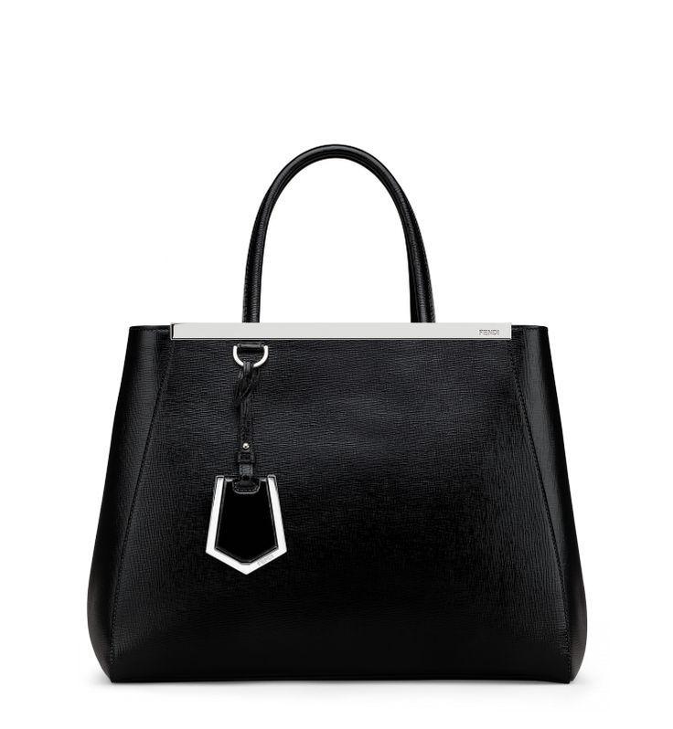 412c12da0f Fendi 2Jours Black Leather Patent. Monogram the bag tag with your initials.