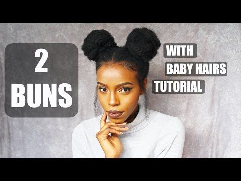 DOUBLE BUNS AND FAUX CHINESE BANG TUTORIAL S INSPIRED LOOK - Big bun hairstyle youtube