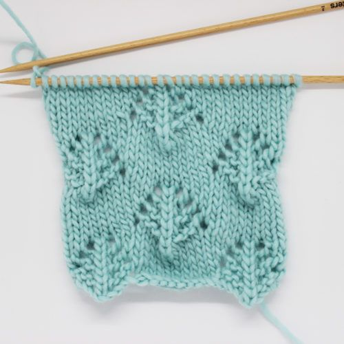 How to knit the small pine trees stitch – The Blog – US/UK – knitting