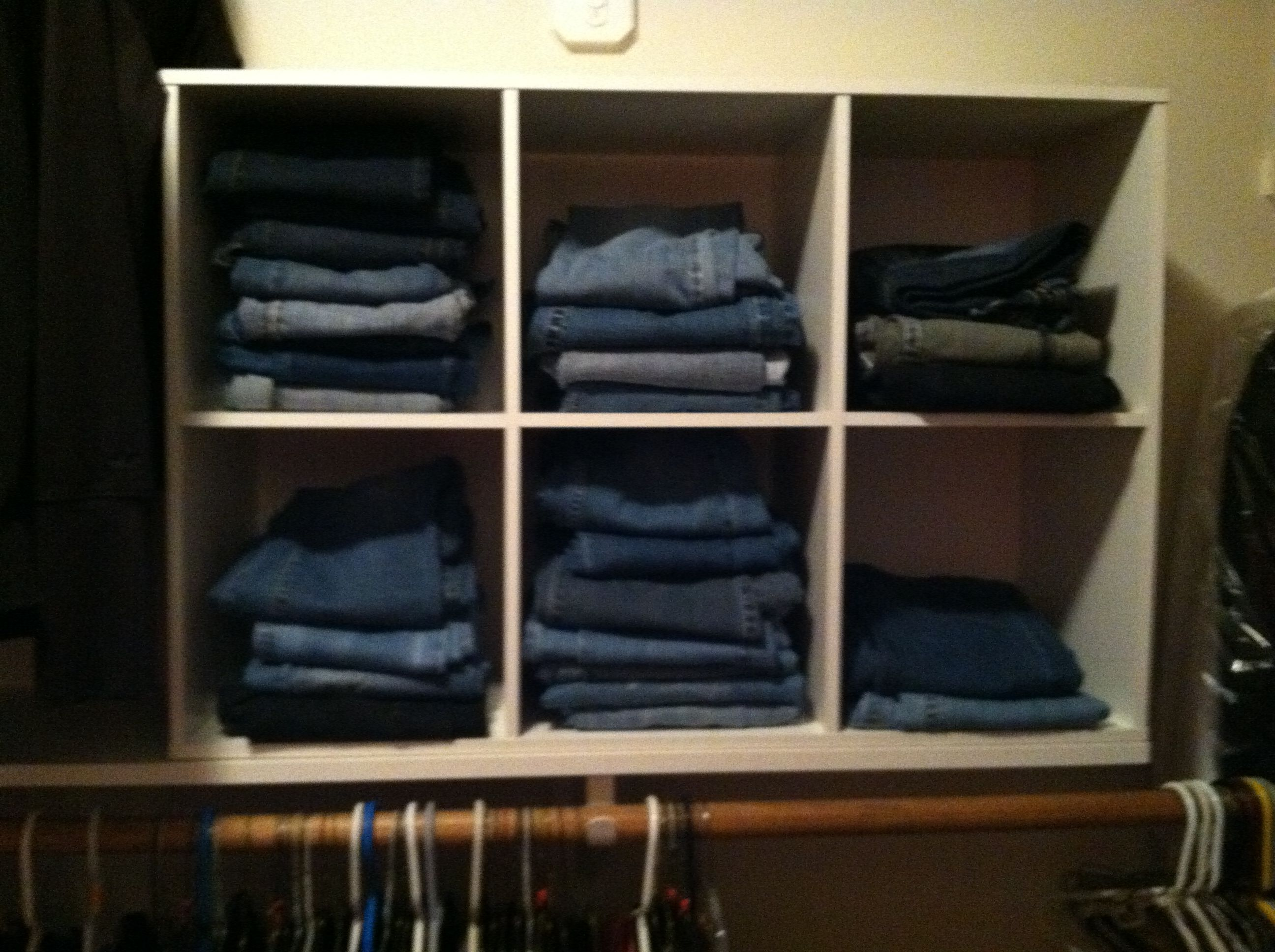 Cubical Storage To Organize Jeans In The Closet I Luv