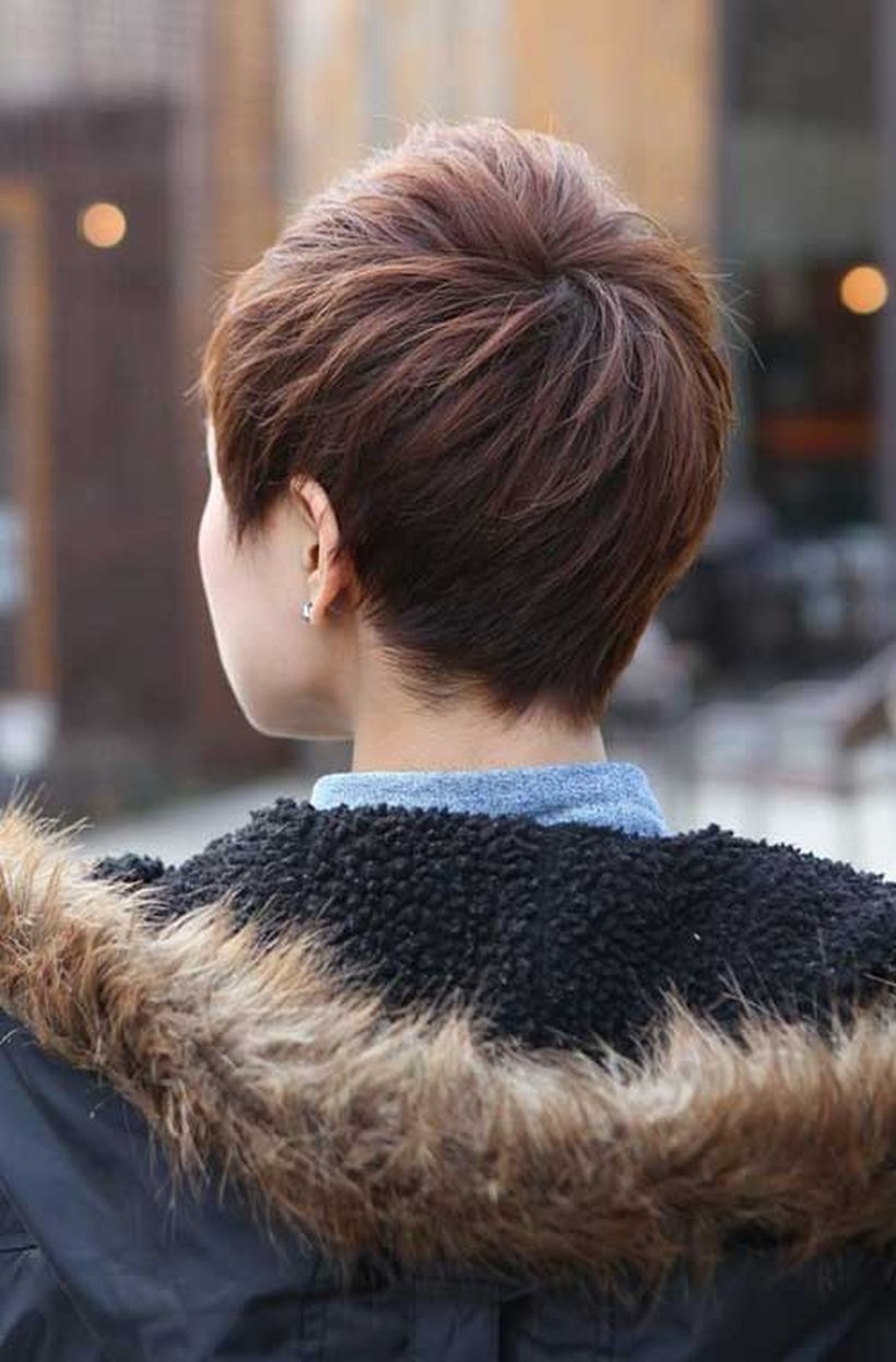 Stylist back view short pixie haircut hairstyle ideas hair