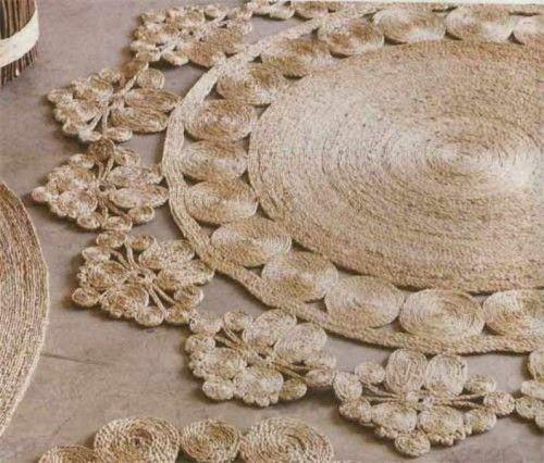 Diy alfombra r stico de yute o sisal rope shelterness manualidades pinterest alfombras - Alfombras de rafia ...