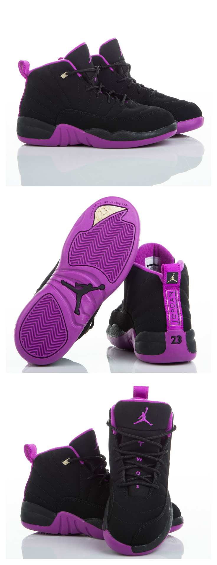 new styles 75594 d8d9c Offset the summer heat with the cool Jordan Retro 12, available in girls   sizes.