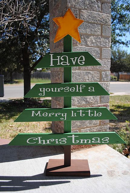 Christmas cool tree from scrap wood would be cute to put merry outdoor christmas decoration ideas diy tree click pic for 20 front porch christmas decorating ideas solutioingenieria Image collections