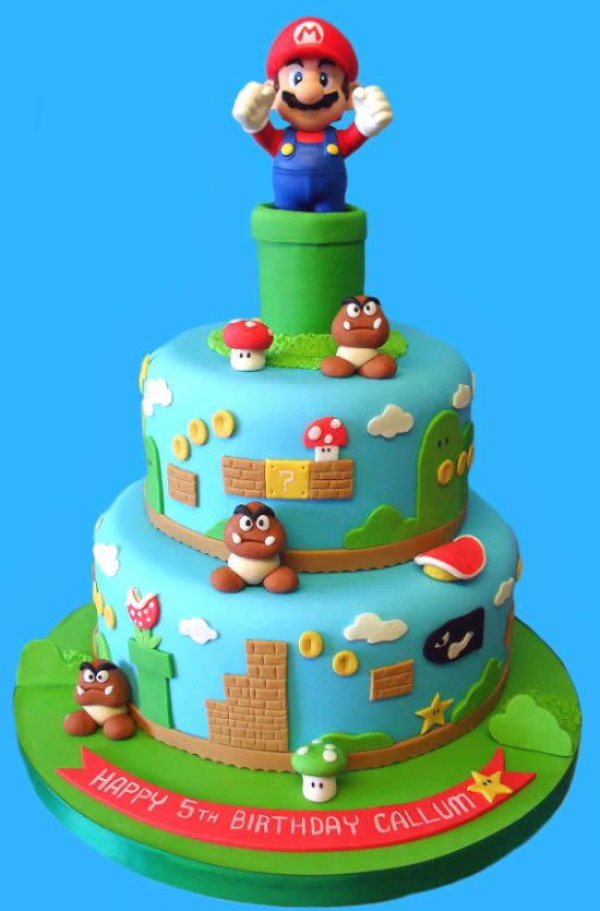 super mario glasgow cake studio cumplea os. Black Bedroom Furniture Sets. Home Design Ideas