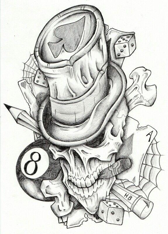 Hat Skull Skull Tattoo Design Sleeve Tattoos Tattoo Designs