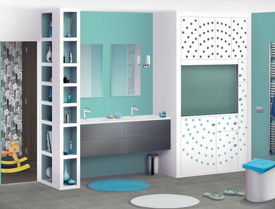 Salle de bain des enfants - Ju0027adore la couleur des murs et les