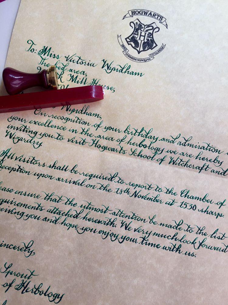 hogwarts letter 💝 (With images) Lettering, Hogwarts