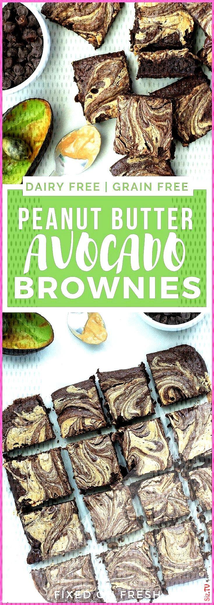 Fudgy Erdnussbutter-Strudel-Avocado-Schokoladenkuchen Healthy Baking Recipes avocado rezept avocado